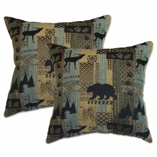Brentwood Bluestone 22-inch Decorative Throw Pillows (Set of 2)