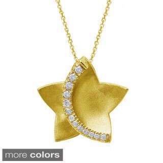 Beverly Hills Charm 10k Gold 1/6ct TDW Diamond Star Necklace (H-I, I2-I3)