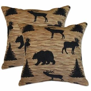 Denali Black 22-inch Decorative Throw Pillows (Set of 2)