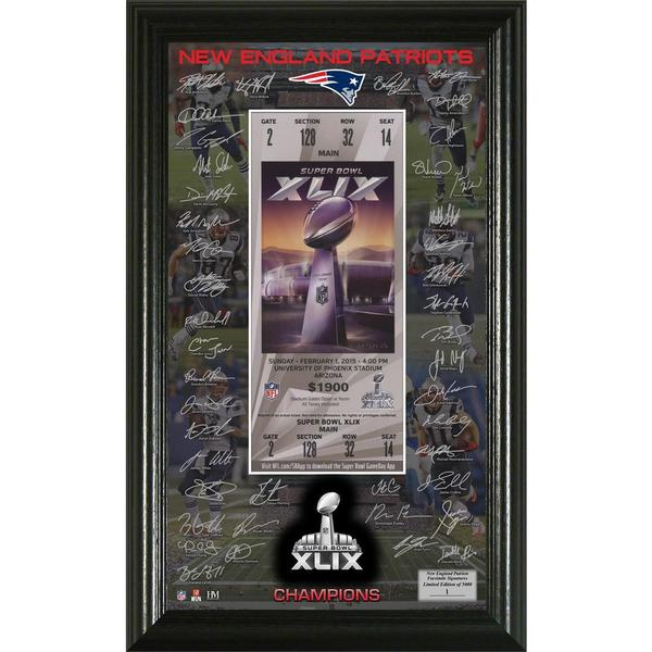 New England Patriots Super Bowl XLIX Champions Signature Ticket