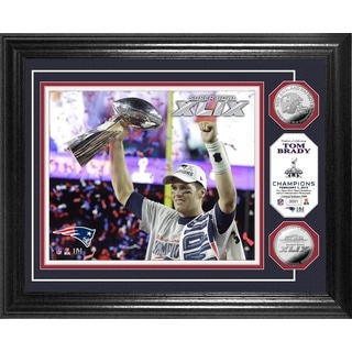 Tom Brady Super Bowl XLIX Champion Trophy Silver Coin Photo Mint