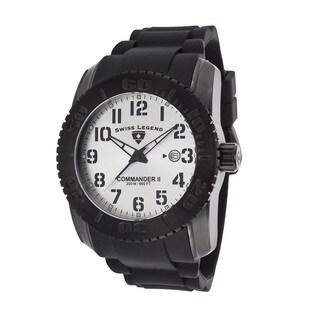 Swiss Legend Men's SL-10068-BB-02S Commander II Silvertone Watch