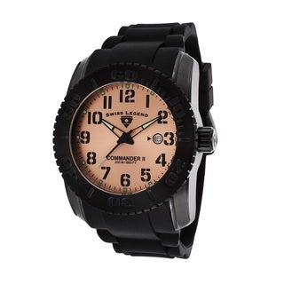 Swiss Legend Men's SL-10068-BB-09 Commander Rose Goldtone Watch