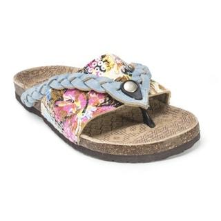 Muk Luks Women's 'Ann' Light Blue Braided Sandals