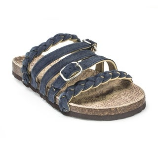 Muk Luks Women's 'Mary' Blue Strappy Sandals