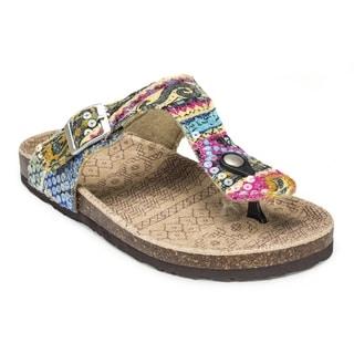 Muk Luks Women's 'Violet' Pink Terra Turf Sandals