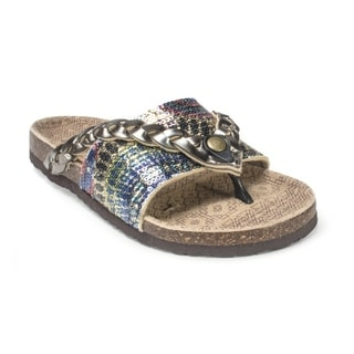 Muk Luks Women's 'Ann' Grey Braided Sandals