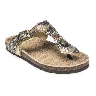 Muk Luks Women's 'Violet' Brown Terra Turf Sandals