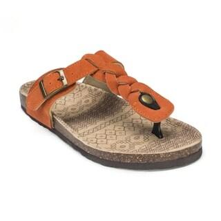 Muk Luks Women's 'Marie' Orange Suede Terra Turf Sandals