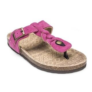 Muk Luks Women's 'Marie' Pink Suede Terra Turf Sandals