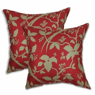 Hera Crismson Tide 22-inch Decorative Throw Pillows (Set of 2)