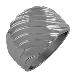 Fremada Stainless Steel Wave Ring