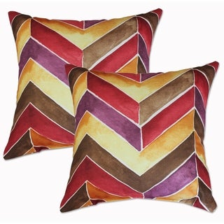 Hue Vermillion 22-inch Decorative Throw Pillows (Set of 2)