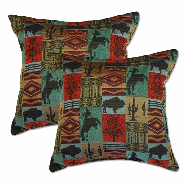 Laramie Terracotta 22-inch Decorative Throw Pillows (Set of 2)