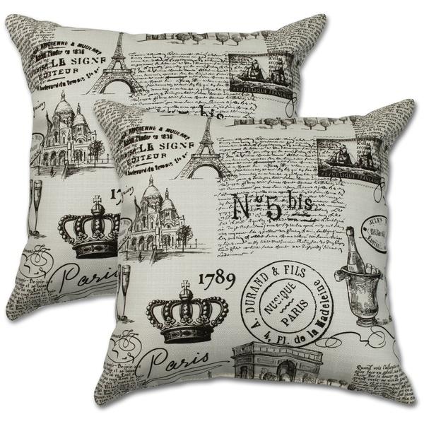 Paris Vanilla 22-inch Decorative Throw Pillows (Set of 2)