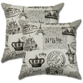 Paris Vanilla 22-inch Decorative Throw Pillows (Set of 2)