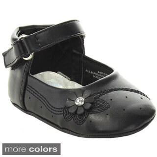 ADDI AADI-044 Infant Girl's Leatherette Bow Detailed Dress Shoes