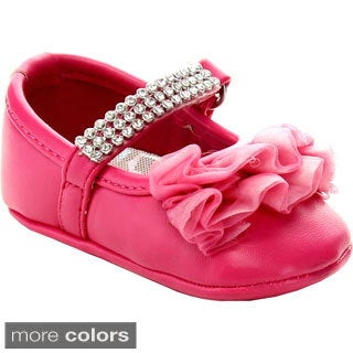 ADDI AADI-14 Infant Girl's Flower Waving Lace Dress Shoes