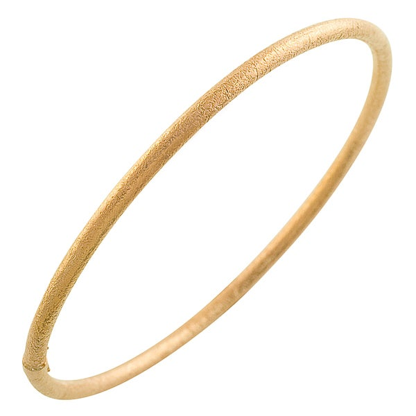 Gold over Silver 3-mm Satin Slip-on Bangle