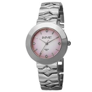 August Steiner Women's Japanese Quartz Diamond Markers Gradient Dial Bracelet Watch