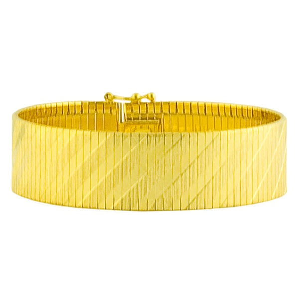 Gold over Silver 17-mm Cubetto Flex Bracelet