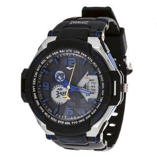 Everlast Diver Sport Men's Analog Digital Round Blue Rubber Watch