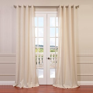 Faux Linen Grommet Top Curtain Panel