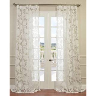 Venus White Designer Sheer Curtain Panel