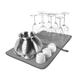 Prepara Dry Dock 14 x 21 Gray Hygienic Dish Mat