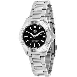 Tag Heuer Women's WAY1410.BA0920 Aquaracer Round Silvertone Bracelet Watch