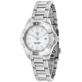 Tag Heuer Women's WAY1412.BA0920 Aquaracer Round Silvertone Bracelet Watch