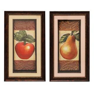 'Fruit' 3D Framed Metal Art Prints (Set of 2)