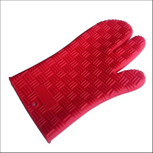 Silicone 3-finger Oven Mitt