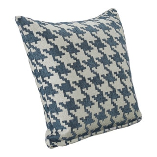Blue Heeler Houndstooth Throw Pillow