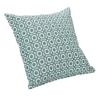 Bullseye Teal Decorative Throw Pillow