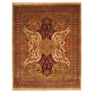 Hand-knotted EORC Wool Ivory Polonaise Rug (10' x 14')