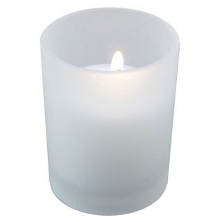 Frosted Glass Candle Holders with 72 10-hour Votive Candles (Set of 12)