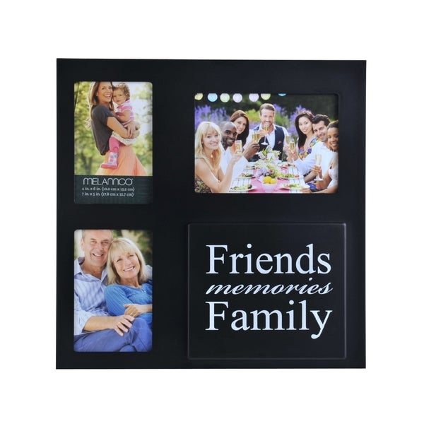 Melannco Black Sentiment Collage Picture Frame