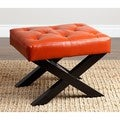 ABBYSON LIVING Devona Red Leather Bench Ottoman