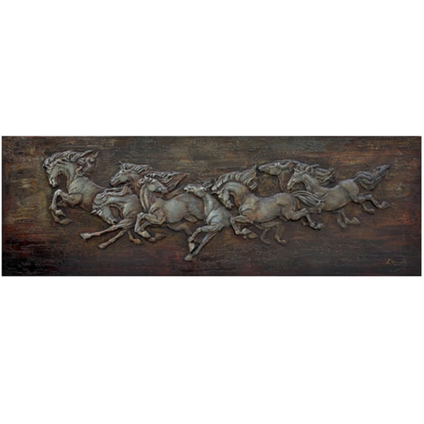 Horse Soldiers Original Hand painted Canvas Art