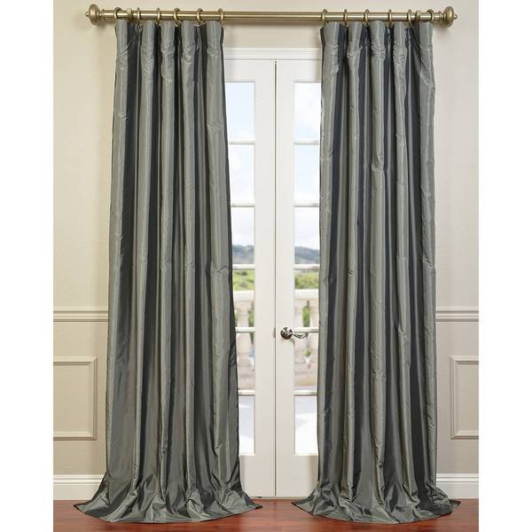 Silver Shadow Blackout Faux Silk Curtain