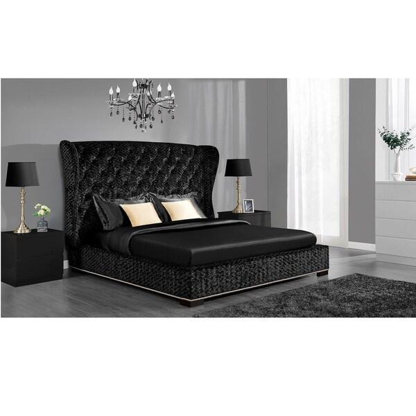 DHP Luxe Premium Velvet Upholstered Bed