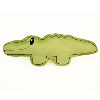 One Grace Place Jazzie Jungle Boy Alligator Decorative Throw Pillow