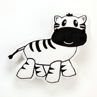 One Grace Place Jazzie Jungle Boy Zebra Decorative Throw Pillow
