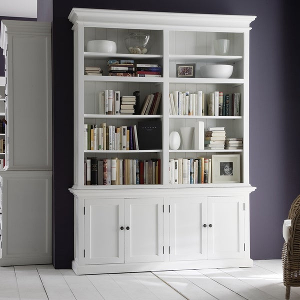 Novasolo White Mahogany Double Bay Hutch Unit 16991162 Overstock Com Shopping Great Deals