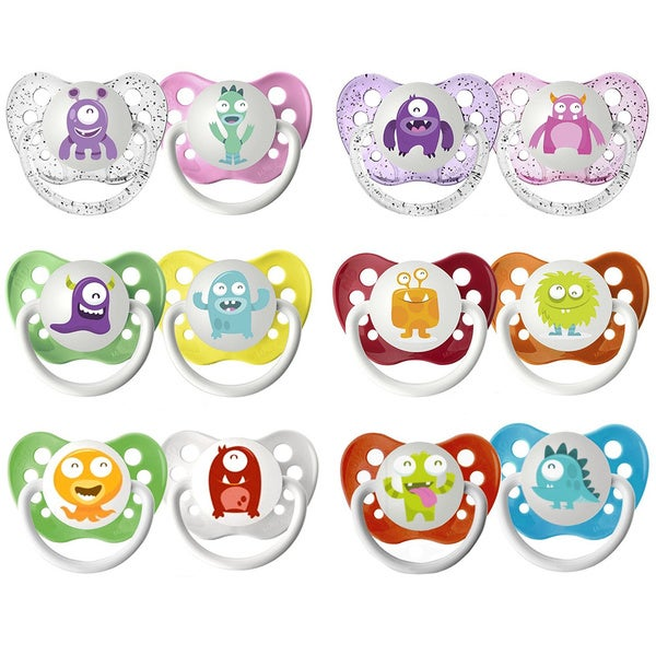 Ulubulu Monster Collection Pacifiers (2 Pack)