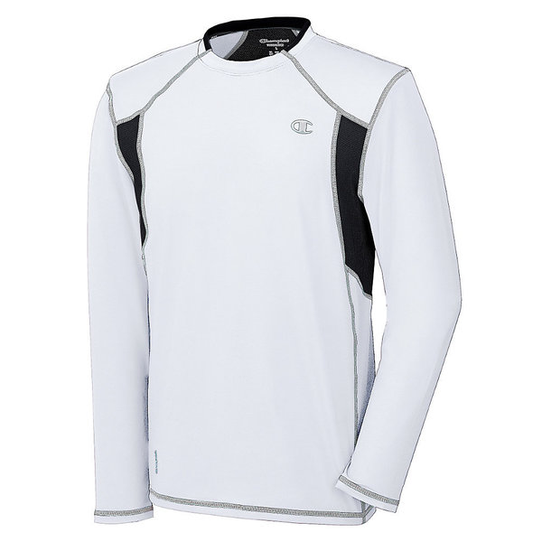 Champion PowerFlex Degree Men's Long Sleeve White Tee