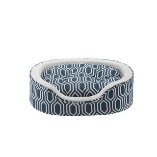 Soft Touch Miley Fretwork Oval Cuddler Pet Bed