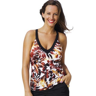Shore Club Sierra Vista Plus-size V-Neck Sport Tankini Top