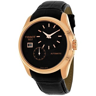 Tissot Men's T0354283605100 Couturier Round Black Strap Watch